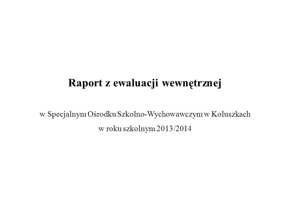 Raport z ewaluacji wewnętrznej