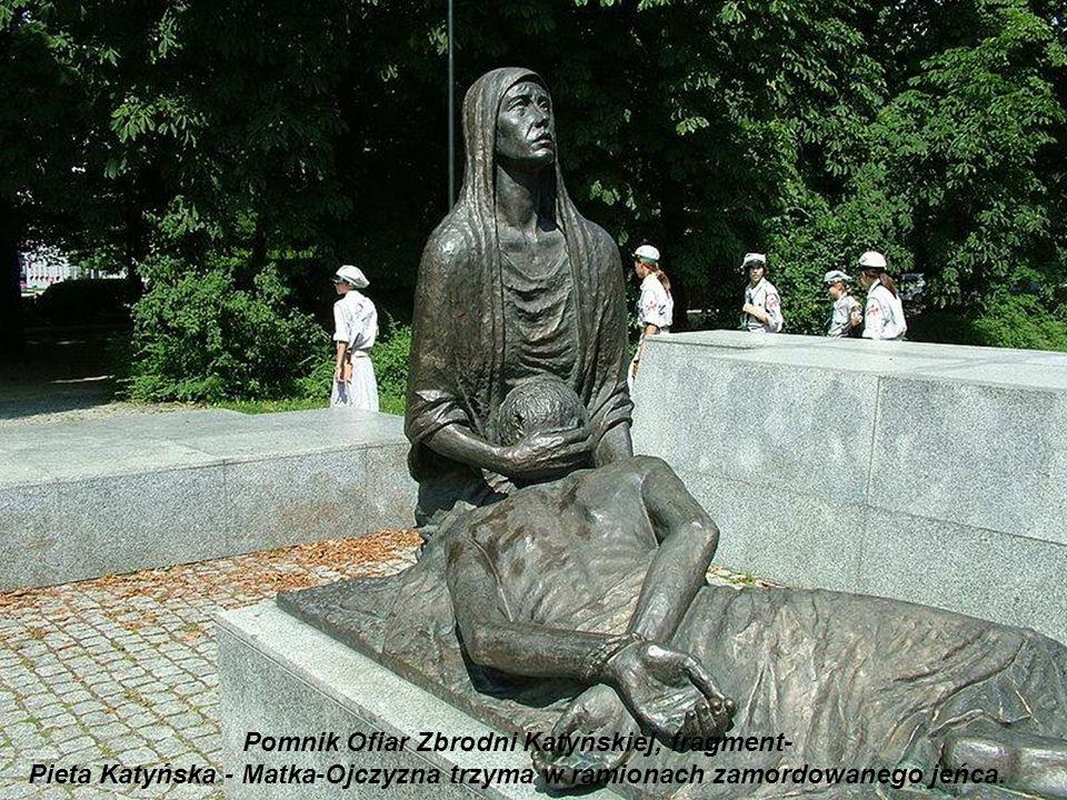 Pomnik Ofiar Zbrodni Katyńskiej, fragment-