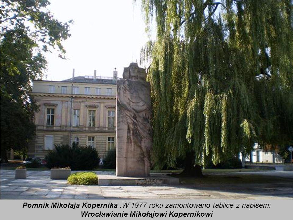 Wrocławianie Mikołajowi Kopernikowi