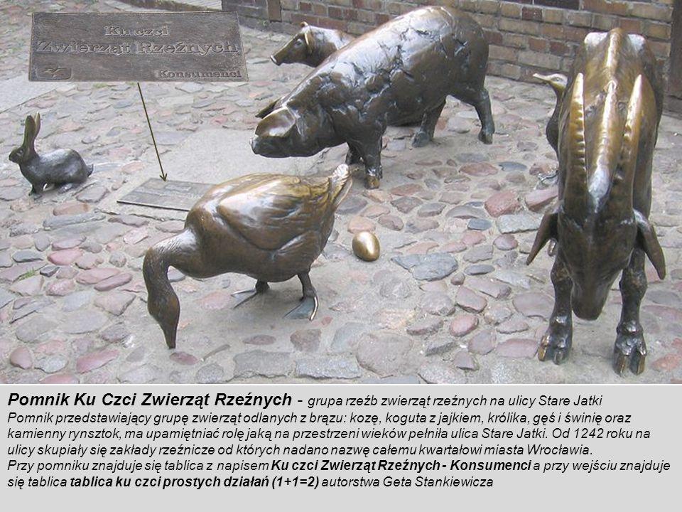 Pomnik Ku Czci Zwierząt Rzeźnych - grupa rzeźb zwierząt rzeźnych na ulicy Stare Jatki