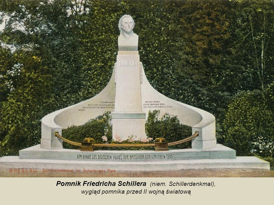 Pomnik Friedricha Schillera (niem. Schillerdenkmal),