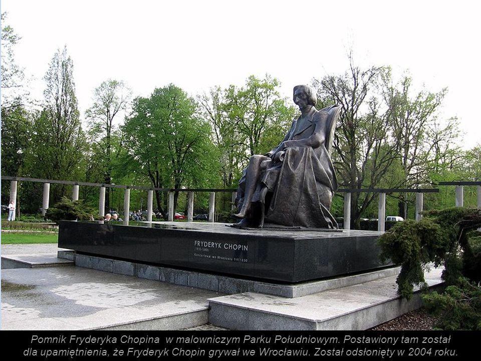 Pomnik Fryderyka Chopina w malowniczym Parku Południowym