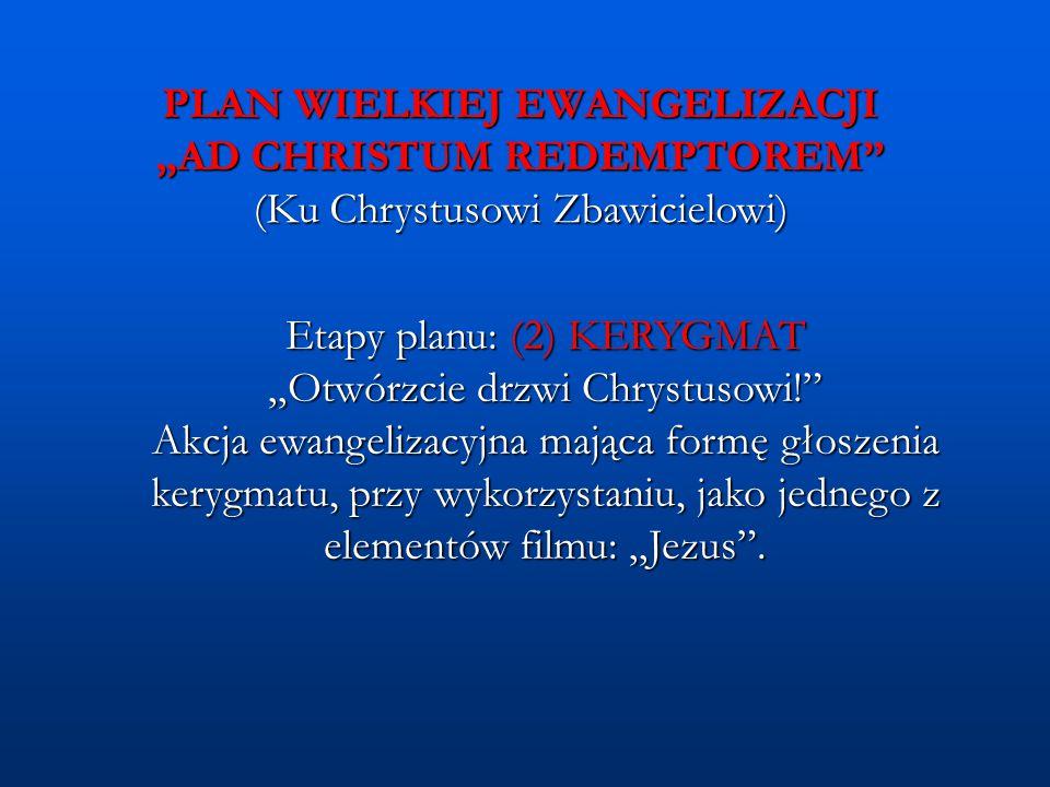 """Etapy planu: (2) KERYGMAT """"Otwórzcie drzwi Chrystusowi!"""