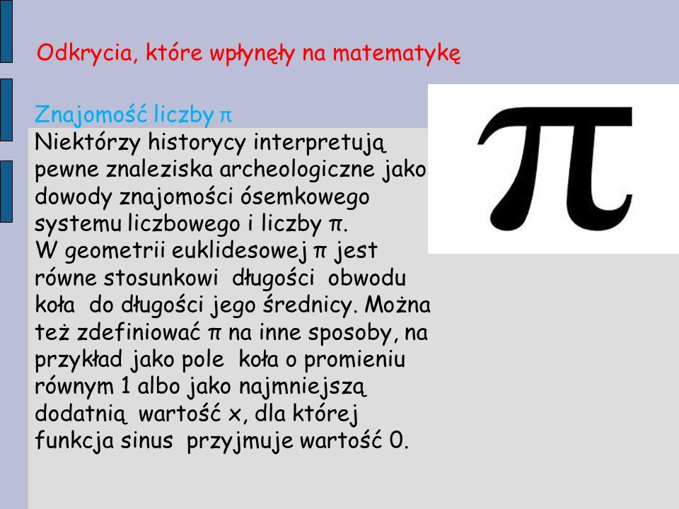Odkrycia, które wpłynęły na matematykę
