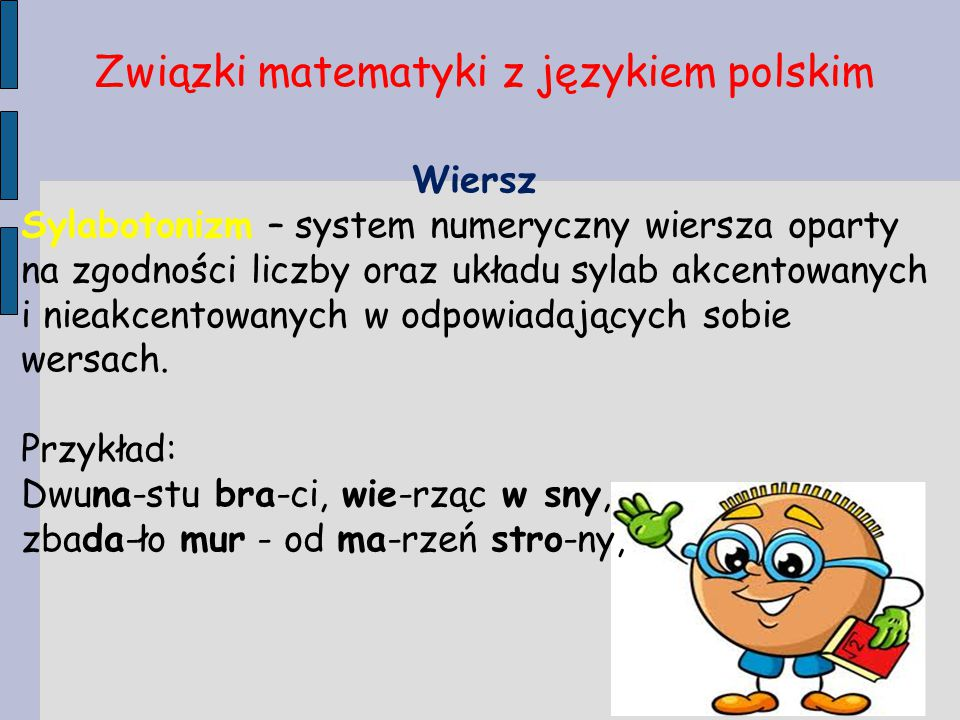 Związki matematyki z językiem polskim