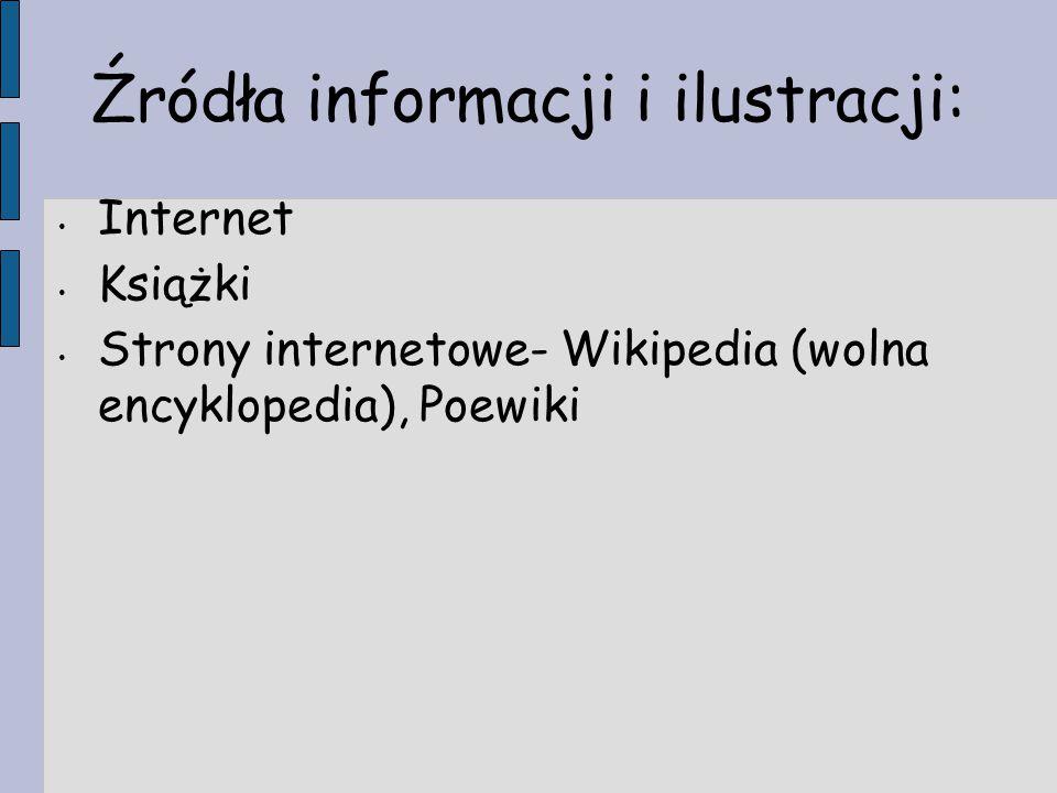 Źródła informacji i ilustracji: