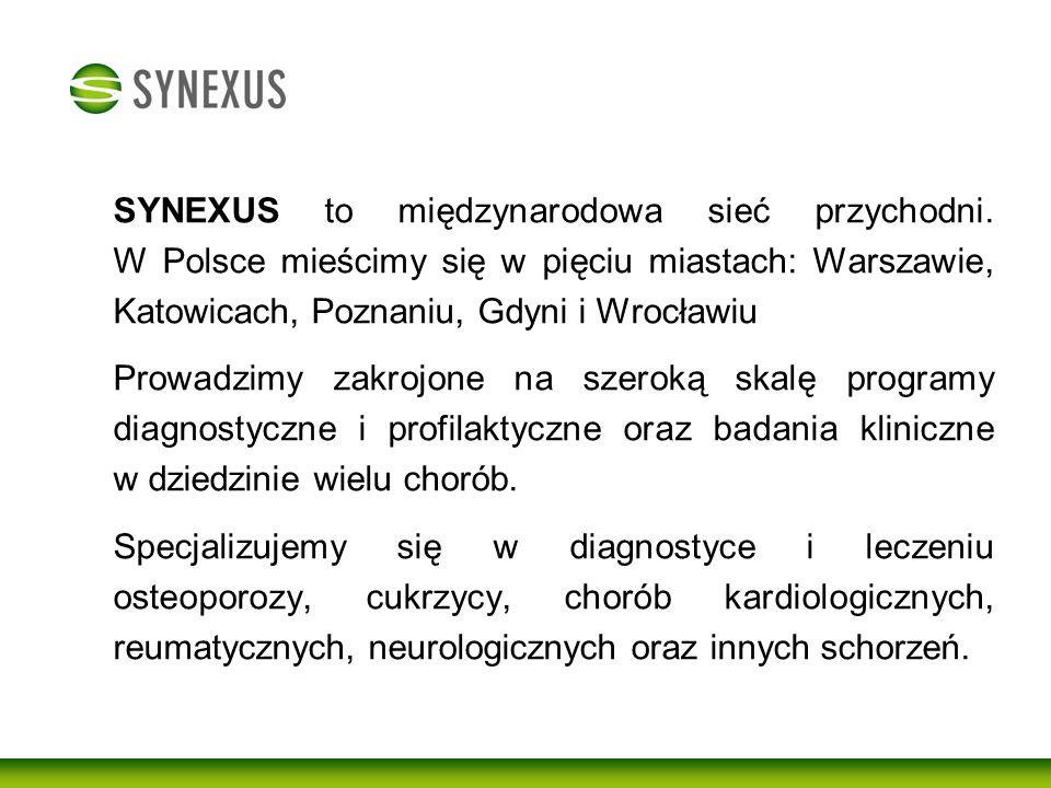 SYNEXUS to międzynarodowa sieć przychodni
