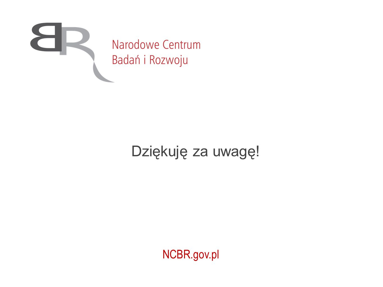 Dziękuję za uwagę! NCBR.gov.pl
