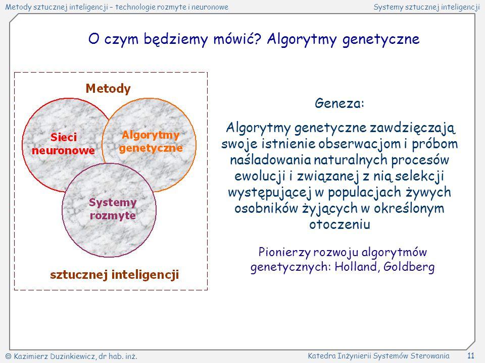 O czym będziemy mówić Algorytmy genetyczne
