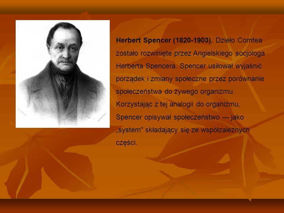 Herbert Spencer (1820-1903).
