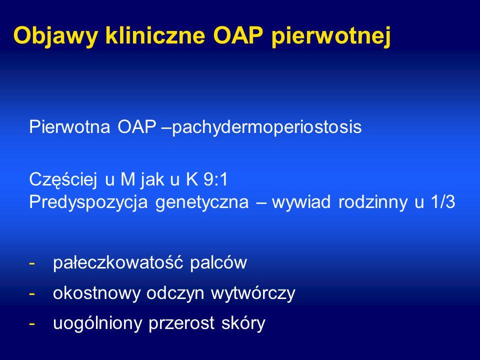 Objawy kliniczne OAP pierwotnej