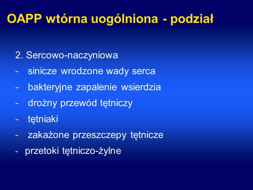 OAPP wtórna uogólniona - podział