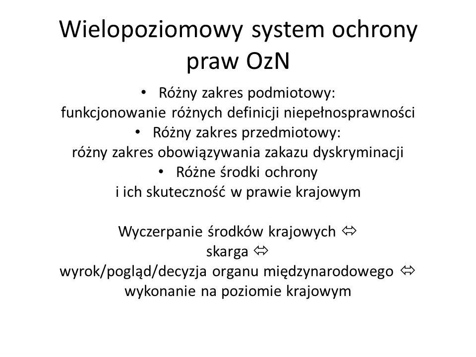 Wielopoziomowy system ochrony praw OzN