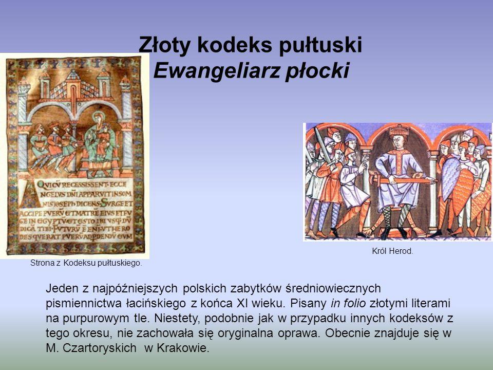 Złoty kodeks pułtuski Ewangeliarz płocki