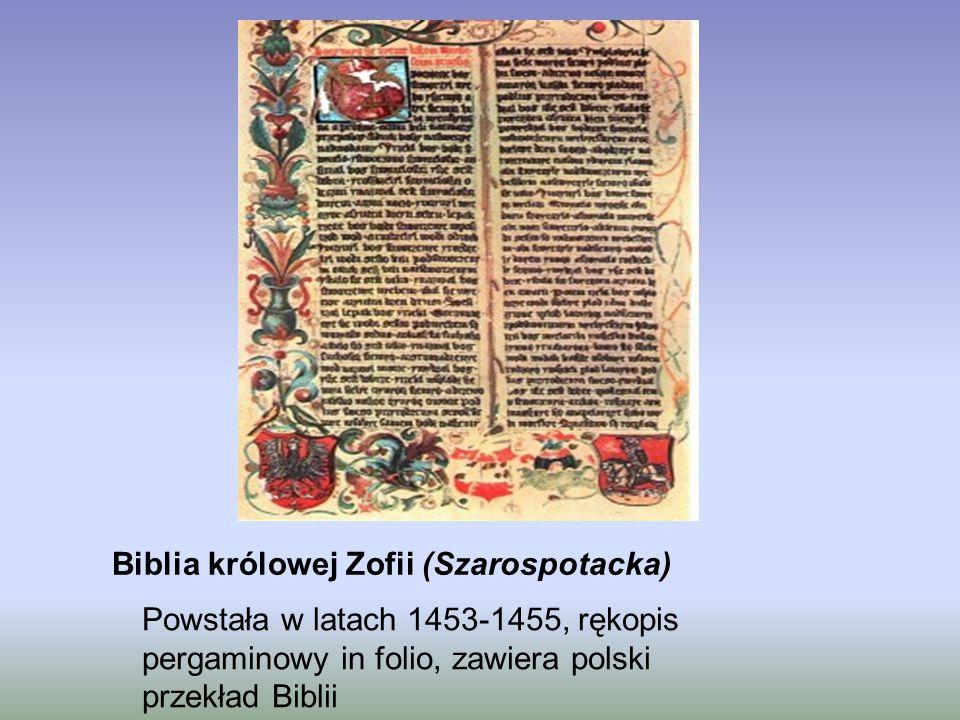 Biblia królowej Zofii (Szarospotacka)