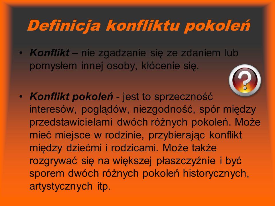 Definicja konfliktu pokoleń