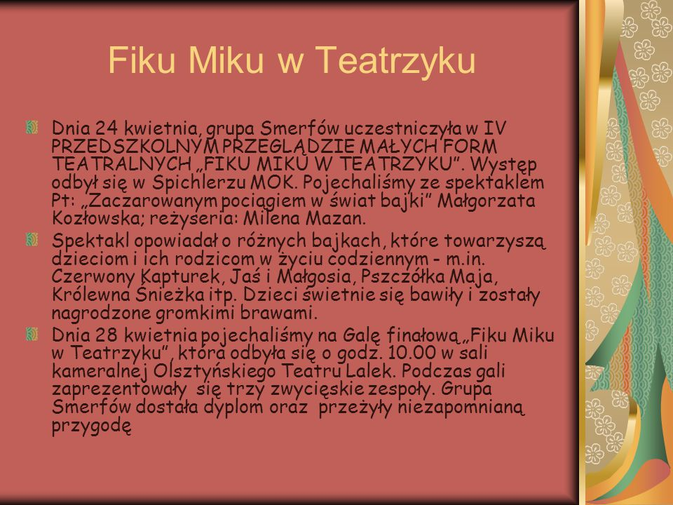 Fiku Miku w Teatrzyku