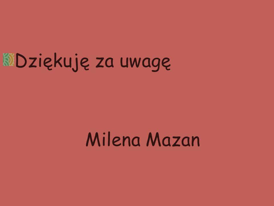 Dziękuję za uwagę Milena Mazan