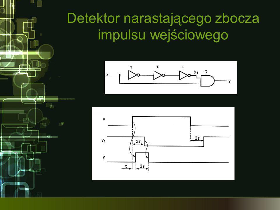 Detektor narastającego zbocza impulsu wejściowego