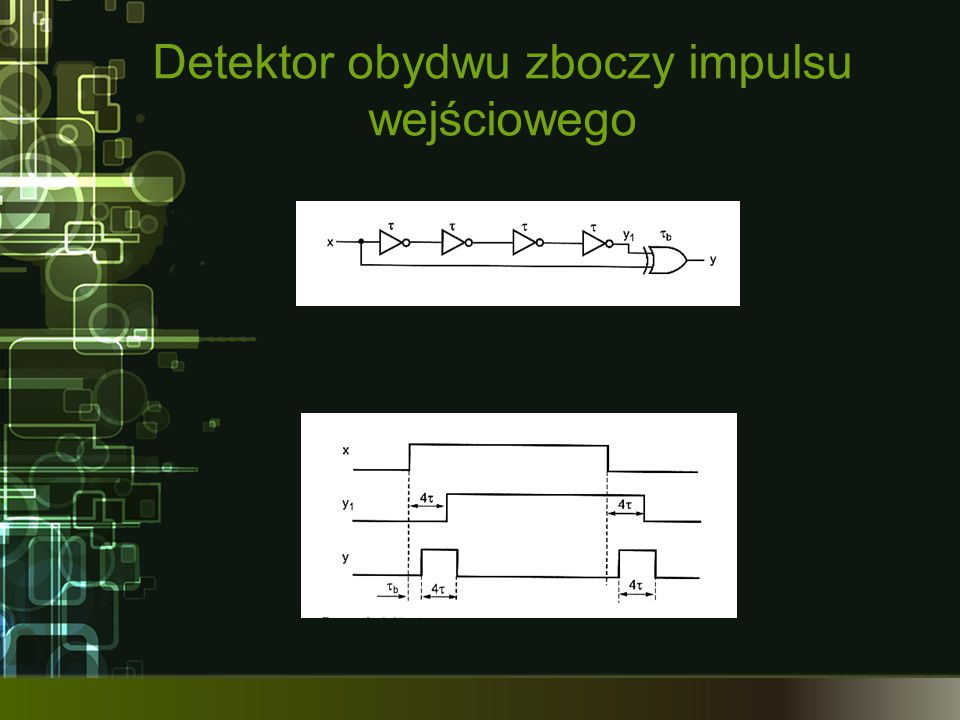 Detektor obydwu zboczy impulsu wejściowego