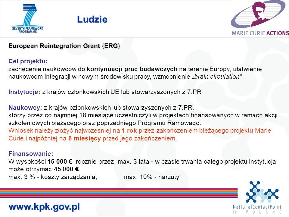 Ludzie www.kpk.gov.pl European Reintegration Grant (ERG)
