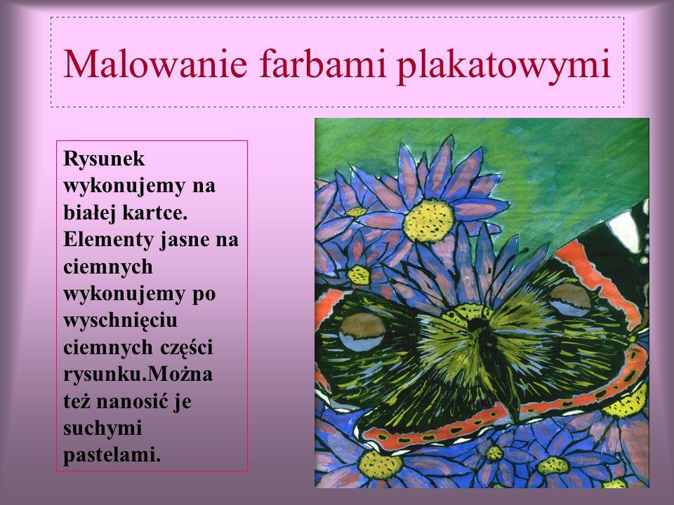 Malowanie farbami plakatowymi