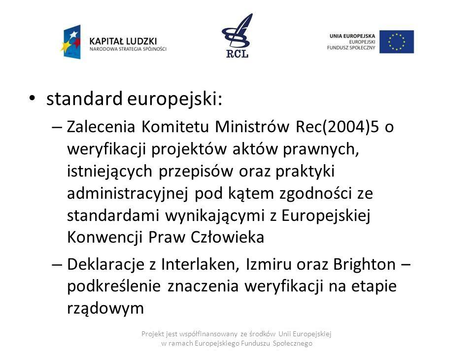 standard europejski: