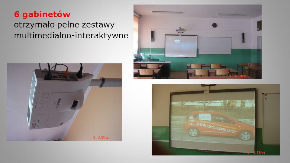 6 gabinetów otrzymało pełne zestawy multimedialno-interaktywne