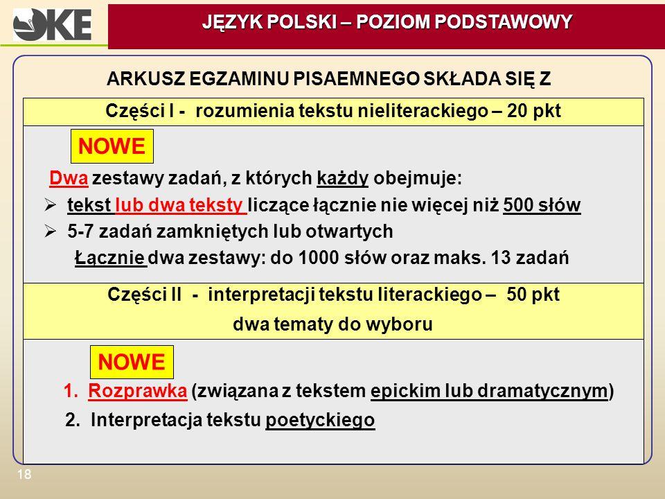 NOWE NOWE JĘZYK POLSKI – POZIOM PODSTAWOWY
