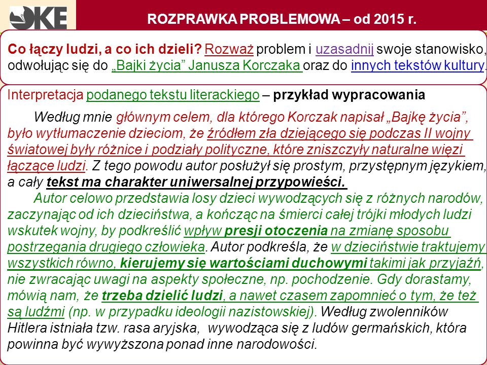 ROZPRAWKA PROBLEMOWA – od 2015 r.