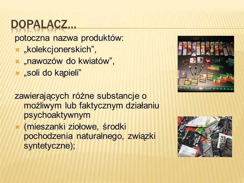 """Dopalacz… potoczna nazwa produktów: """"kolekcjonerskich ,"""