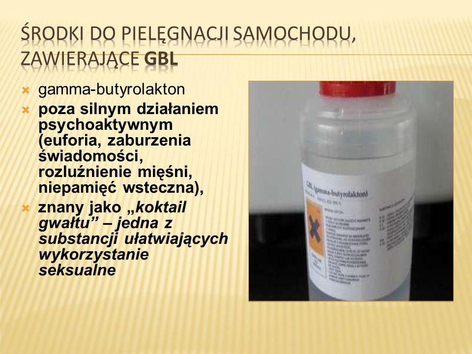 środki do pielęgnacji samochodu, zawierające GBL