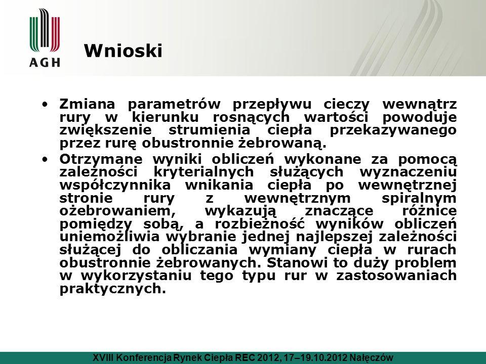XVIII Konferencja Rynek Ciepła REC 2012, 17–19.10.2012 Nałęczów