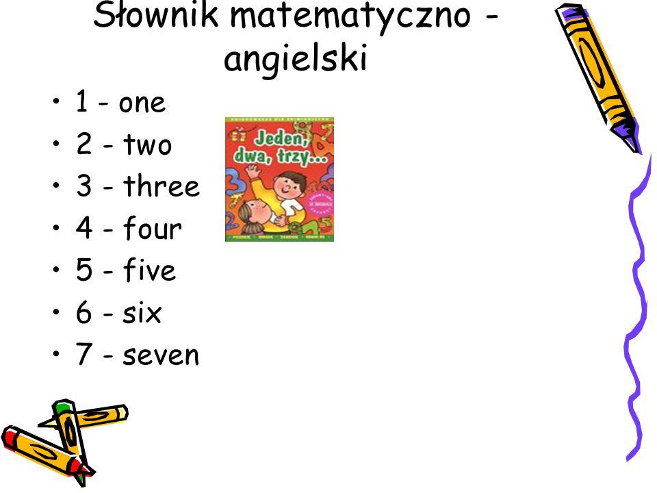 Słownik matematyczno -angielski