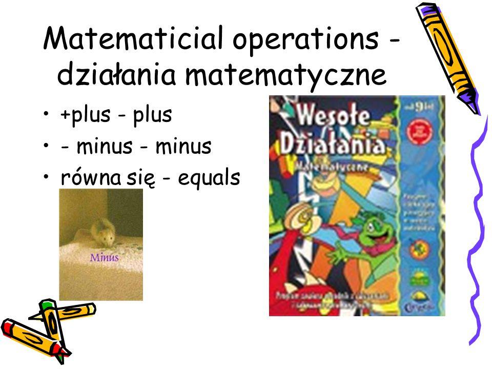Matematicial operations - działania matematyczne