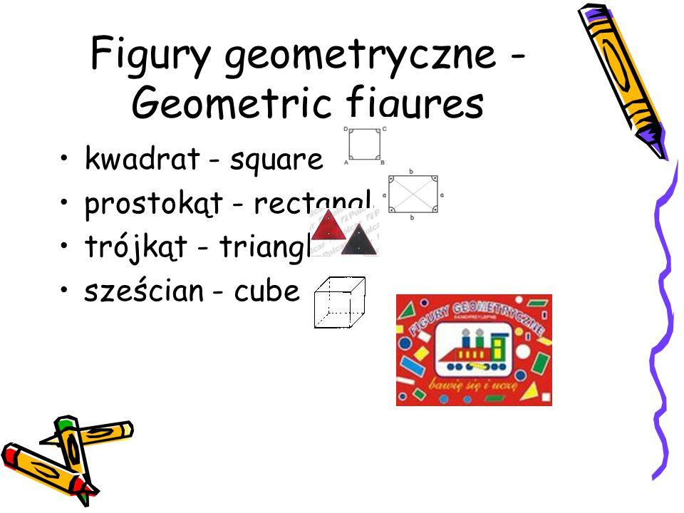 Figury geometryczne - Geometric figures