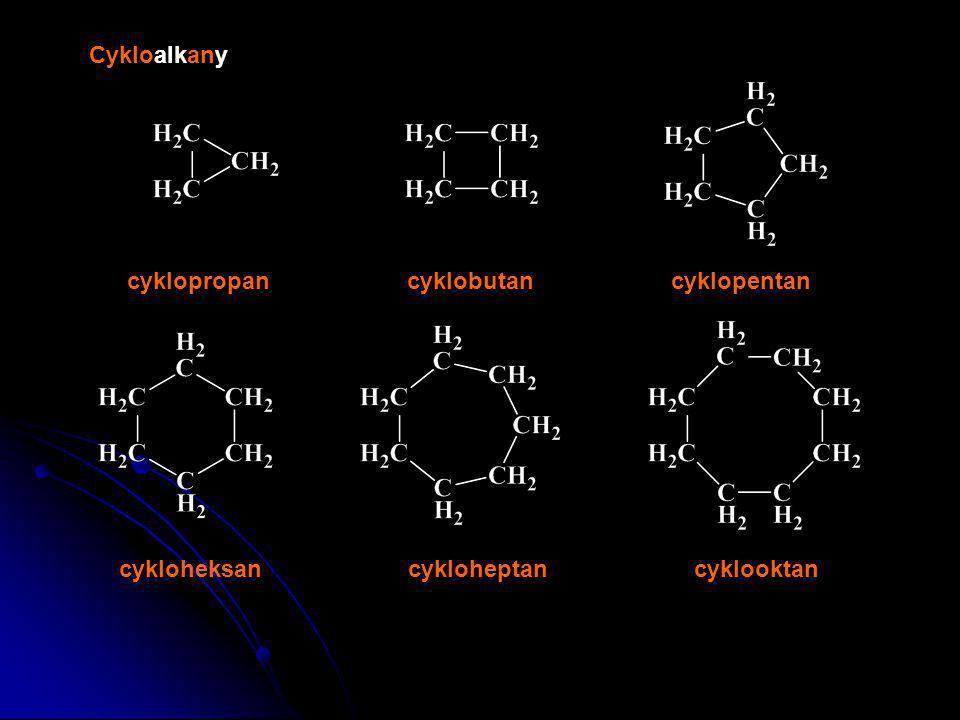 Cykloalkany cyklopropan cyklobutan cyklopentan cykloheksan cykloheptan cyklooktan
