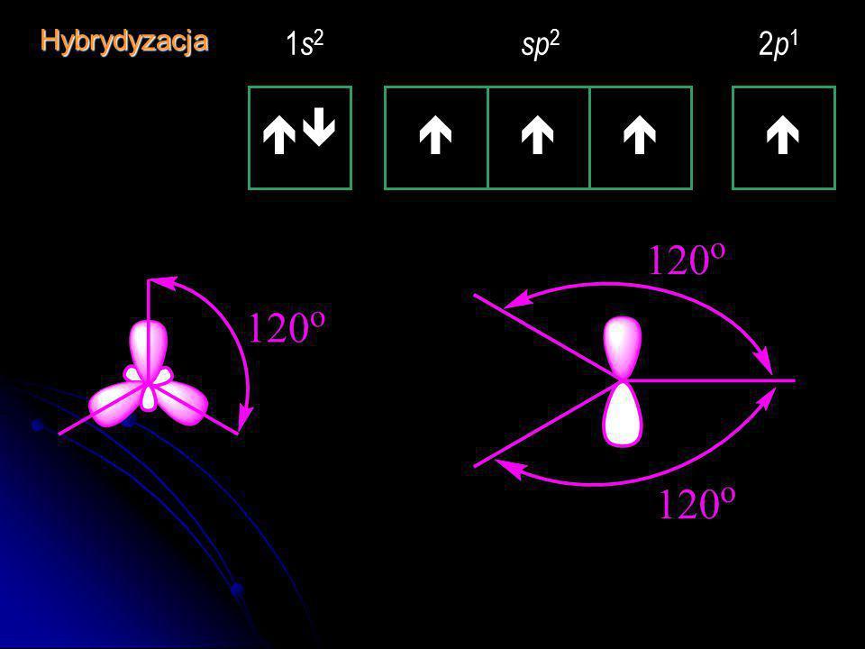 Hybrydyzacja   1s2 sp2 2p1