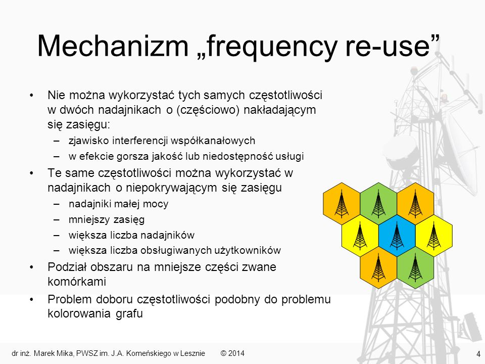 "Mechanizm ""frequency re-use"