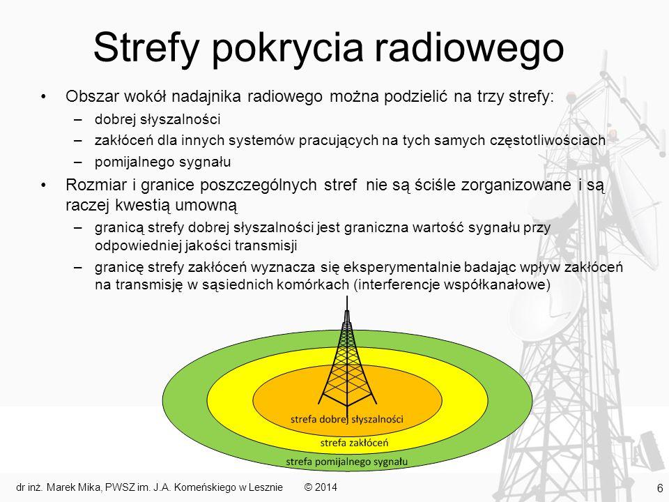 Strefy pokrycia radiowego