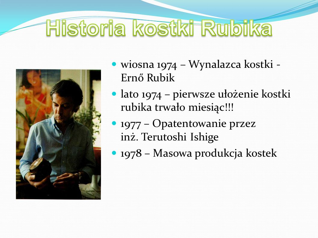 Historia kostki Rubika