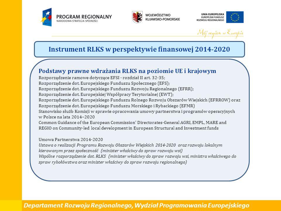 Instrument RLKS w perspektywie finansowej 2014-2020