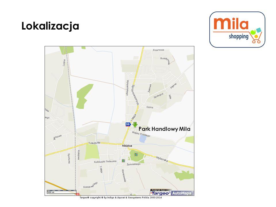 Lokalizacja Park Handlowy Mila