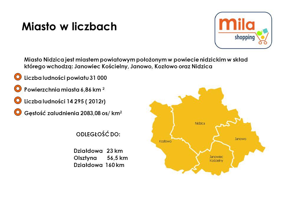 Miasto w liczbach Miasto Nidzica jest miastem powiatowym położonym w powiecie nidzickim w skład.