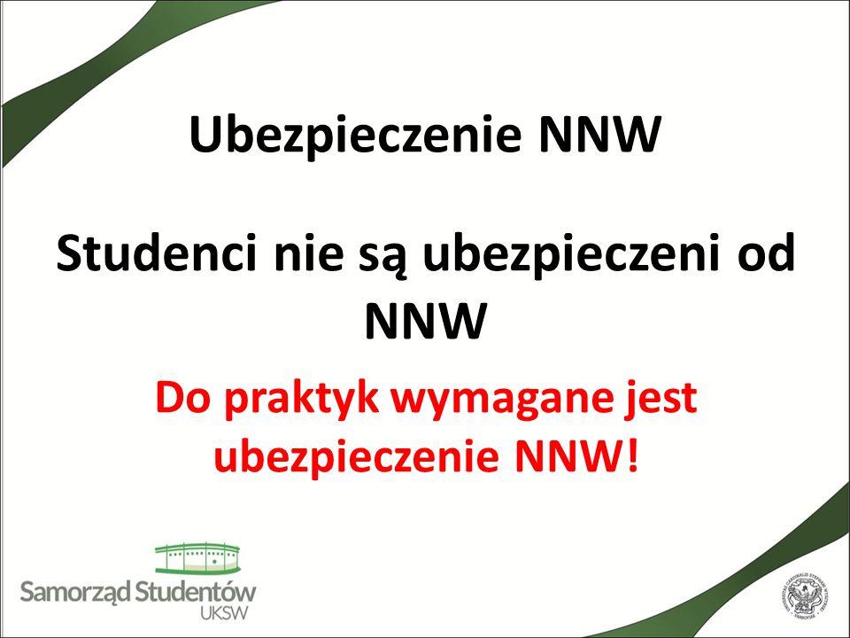 Ubezpieczenie NNW Studenci nie są ubezpieczeni od NNW