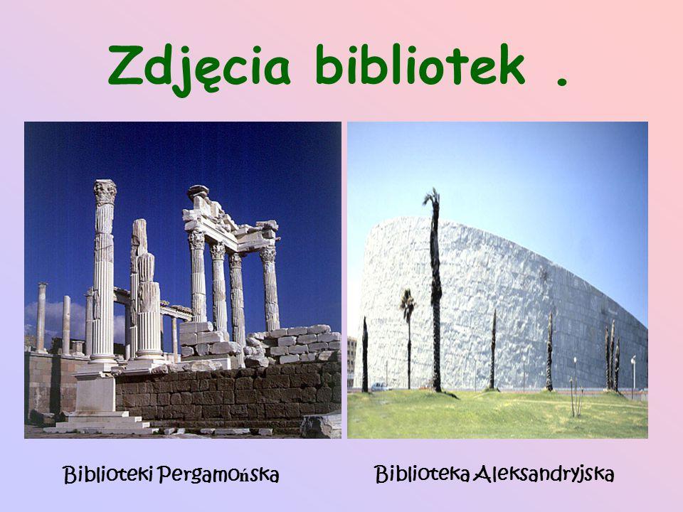 Zdjęcia bibliotek . Biblioteki Pergamońska Biblioteka Aleksandryjska