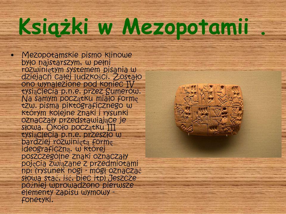 Książki w Mezopotamii .