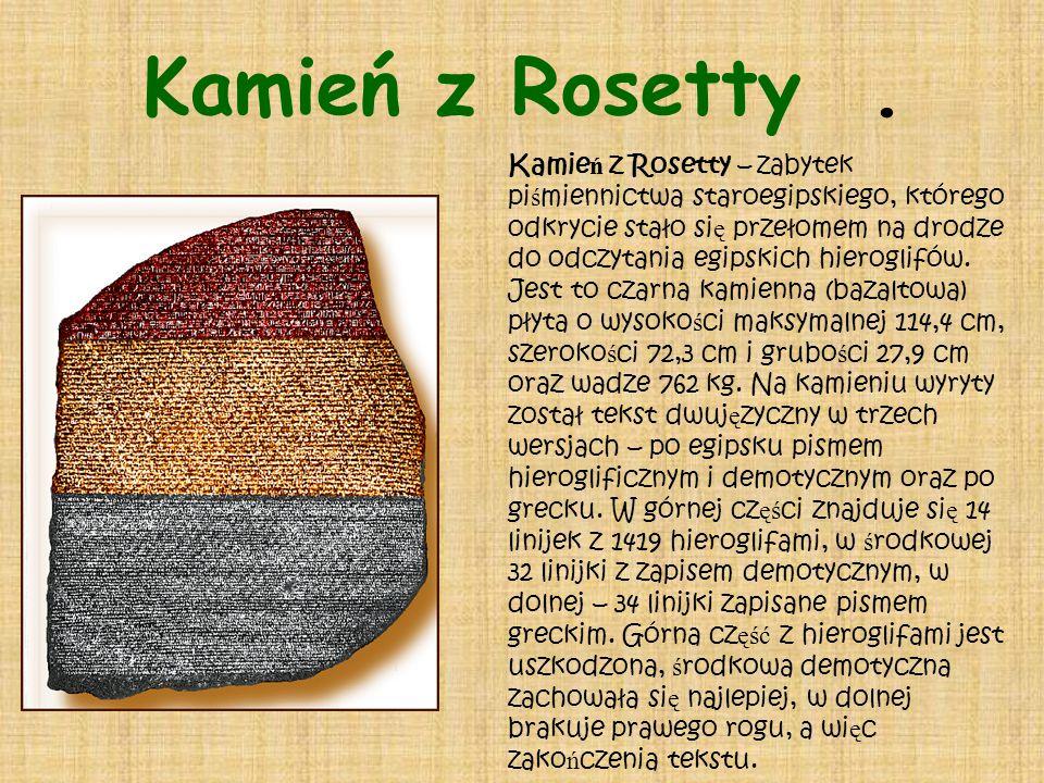 Kamień z Rosetty .