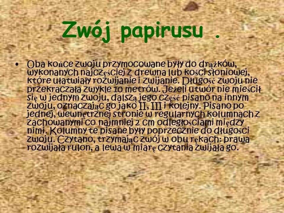 Zwój papirusu .