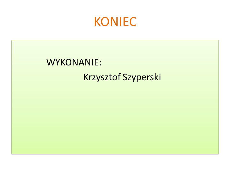KONIEC WYKONANIE: Krzysztof Szyperski